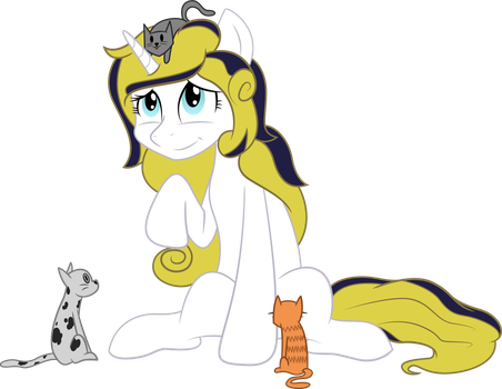 Commission : Starlight With Some Cats by ShadyHorseman