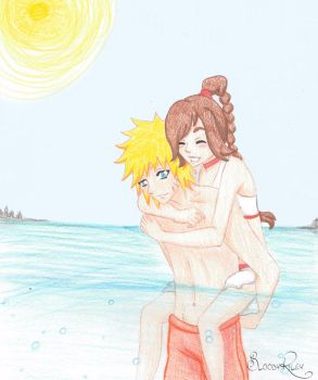Xover - Naruto and Ty-Lee by BloodyRiley
