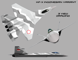 KFX-Indonesian Variant-3 Views by Stealthflanker