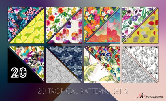 20 Tropical Patterns Set 2 by noema-13