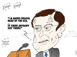 Mario Draghi caricature by optionsclickblogart