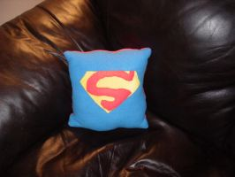 Superman Inspired Cushion by QTZephyr