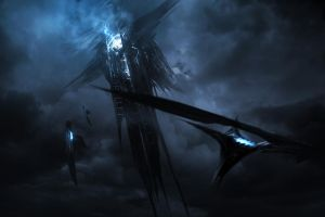 Thor: The Dark World - Dark Elf Mothership by atomhawk