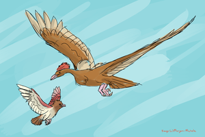 Fearow And Spearow by Morgan-Michele