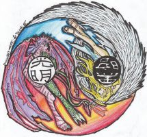 Ying Yang Coloured by Linitha