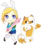Fionna and Cake by natto-uzumaki