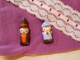 Professor Layton charms by TsukiGalaxy