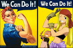 Rosie the Riveter and Winry Rockbell by joaocouto
