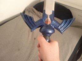 Holding Master Sword by cwinget
