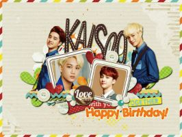 [Wallpaper] Happy Birthday KaiSoo - Kai ,D.O EXO by jangkarin