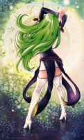 Green haired enchantress by s-scattered