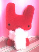 cute red bunny plushie by VioletLunchell