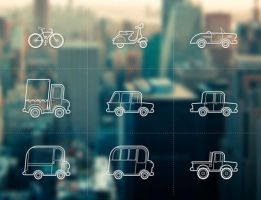 Free set of Outline Vehicles by Designslots