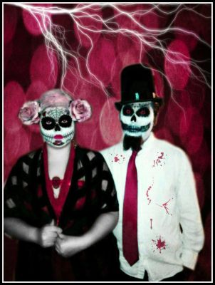 Day Of The Dead By Vamp1967-revised pink by vamp1967