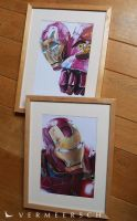 My 2 baby's - Iron Man colour drawings by Martin--Art
