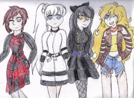 Team RWBY by Ravecoin64