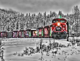 CP Holiday Train in Golden BC by skip2000