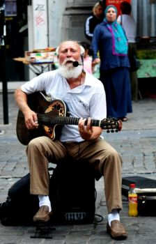 street musician2 by erinna-dionysos