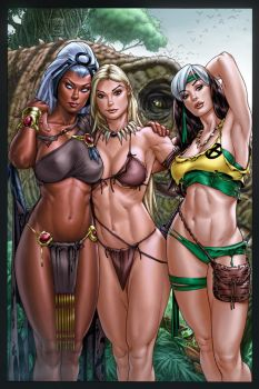 Storm_ Shanna_Rogue_Savage Land_colors by vic55b