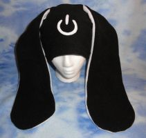 Power Symbol Bunny Hat- White by HatcoreHats