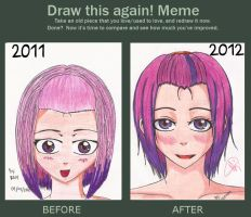 Before and After of my OC by Irenechii