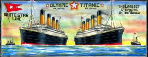 Olympic and Titanic Poster by Scottvisnjic