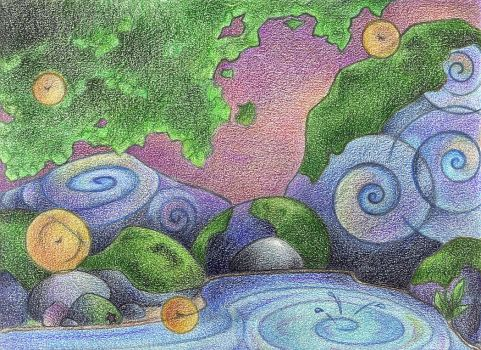 By the Water's Edge by Spiralpathdesigns