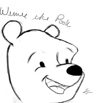 Pooh Bear - My First free-hand tablet drawing by TyceZala