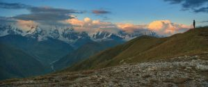 Sunset on Caucasian Ridge by ShakilovNeel
