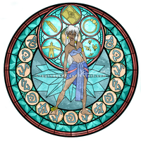 Princess Kida - Kingdom Hearts Stain Glass by reginaac57