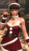 Dead or Alive 5 Ultimate Leifang Santa Costume 5 by LtManning