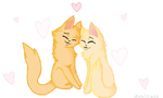 Sandstorm and Firestar by SoulCats