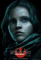 Jyn Erso Rogue One: A Star Wars Story Poster by Artlover67