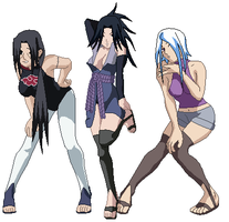 Ita, Sasu and Sui Sexy Jutsu by iSuperShooter