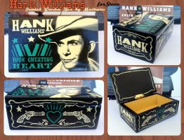 Hank Williams jewelry wooden box by Vikrapuff