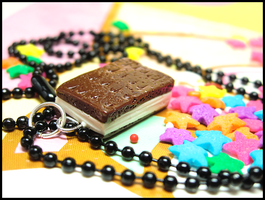 Ice Cream Sandwich Necklace by GrandmaThunderpants
