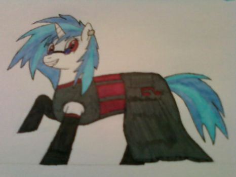 Gothic 'castle party' Vinyl Scratch by Lycan4425