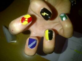Harry Potter Nails by 0han-nah0