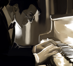 a blind pianist by Tinypop