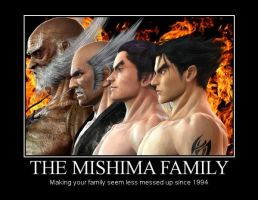 Mishima Family Demotivational Poster by Pisces-Baby