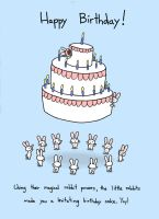 Rabbits Make Levitating Cake by sebreg