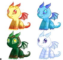 Dragon Adoptables - CLOSED by ScissorsRunner