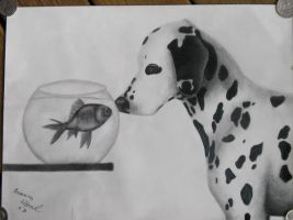 Dalmation sketch by NareeaShay