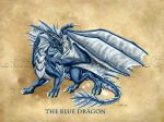 The Blue Dragon by TheDragonofDoom