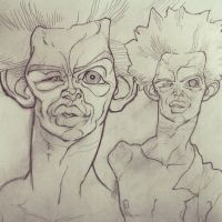 Egon Schiele sketch 1 by thousandfoldart
