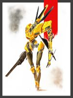 Armored Core Yellow Jacket by STUNNA-K