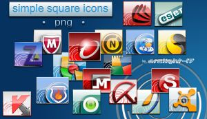 Simple Square Icons Antivirus by Arclight-17