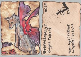 Coyote Tatters ACEO by Stormslegacy