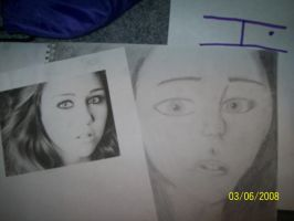 Miley Cyrus Drawing by DemiFan101