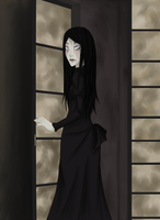 The Woman in Black by RennaRevelin